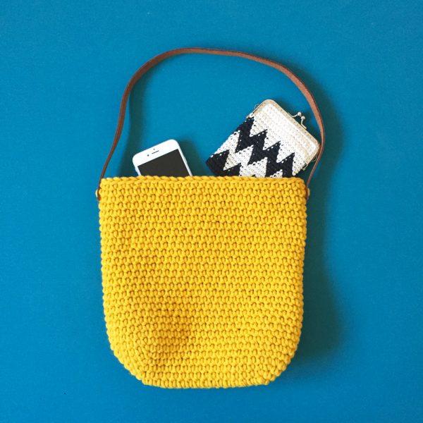 Sac boule - Kit crochet niveau débutant - Coloris moutarde