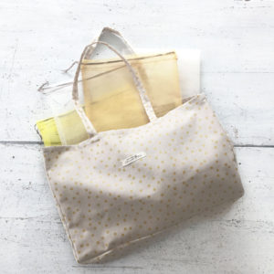 Shopping bag et pochons en tulle - kit couture facile