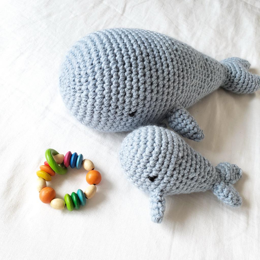 Kit Crochet Ou Tricot Baleine Et Son Baleineau