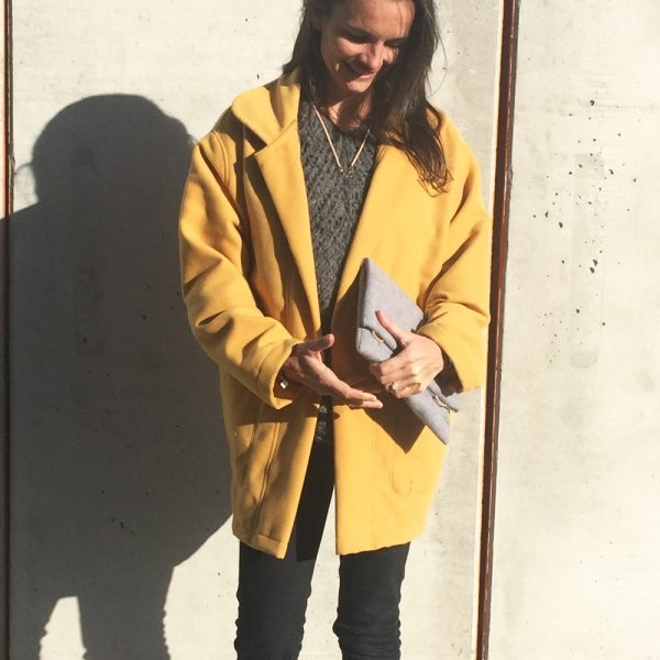 veste-manteau over-size -mi saison - Kit couture