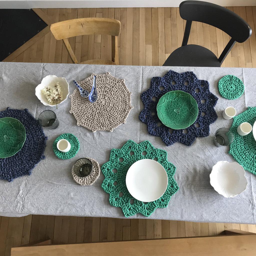 Kit crochet sets de table chouette kit Set de table photo