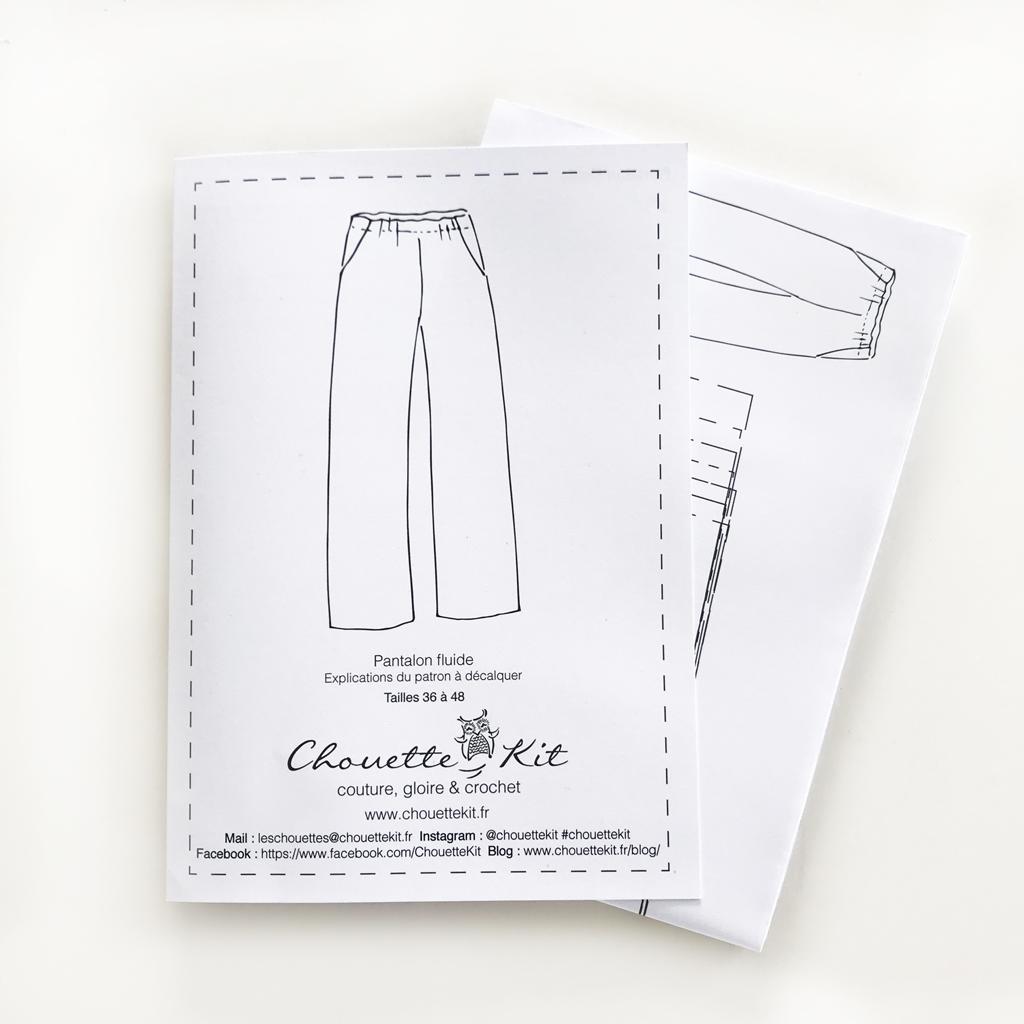 Patron pour pantalon large - taille haute - La couture avec Chouette Kit